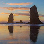 Sunset At Cannon Beach Art Print
