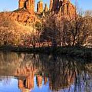 Sunset At Cathedral Rock In Sedona Az Print by Teri Virbickis
