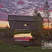 Sunset At Foster Bridge Art Print