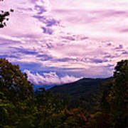 Sunset At Gorges State Park Art Print