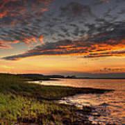 Sunset At Kent Narrows Art Print