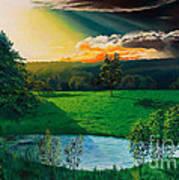 Sunset At L Hermitiere Art Print
