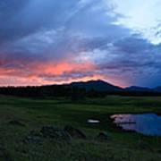 Sunset At Locke's Pond - Big Horn Mountains - Buffalo Wyoming Art Print