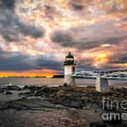 Sunset At Marshall Point Art Print