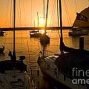 Sunset At Morro Bay Art Print
