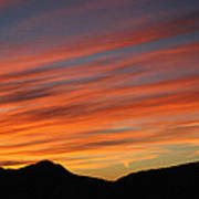 Sunset At Mt. Ord Art Print