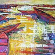 Sunset At Mums Art Print