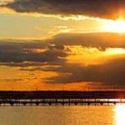 Sunset At National Harbor Art Print