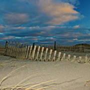 Sunset At Nauset Beach Cape Cod Art Print