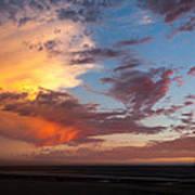 Sunset At Pacific City Art Print