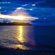 Sunset At Parksville Beach Art Print