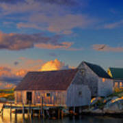 Sunset At Peggy's Cove 06 Art Print
