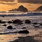 Sunset At Pfeiffer Beach Art Print