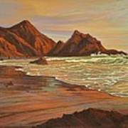 Sunset At Pfeiffer Beach Art Print