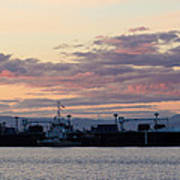 Sunset At Port Angeles Art Print