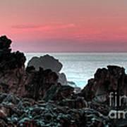 Sunset At Salt Point Art Print