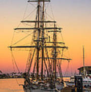 Sunset At San Pedro Art Print