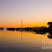 Sunset At Shem Creek Art Print
