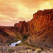 Sunset At Smith Rock Art Print
