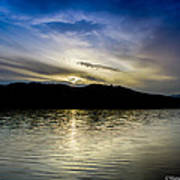 Sunset At South Tellico Lake Art Print by Paul Herrmann