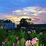 Sunset At Tasty's In Anguilla Art Print
