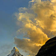 Sunset At The Matterhorn Switzerland Art Print