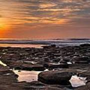Sunset At The Tidepools II Art Print