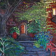 Sunset At The Villa Art Print by Dixie Adams