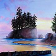 Sunset At Tongue Point Art Print