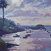 Sunset At Waterlot Art Print