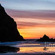 Sunset At Whalehead Beach Art Print