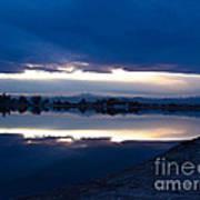 Sunset At Windsor Lake Art Print