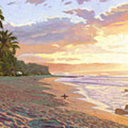 Sunset Beach - Oahu Art Print