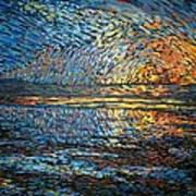 Sunset Before The Storm Art Print