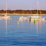 Sunset Boats Art Print