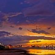 Sunset By Causeway Bridge Art Print