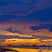 Sunset By The Bay Art Print