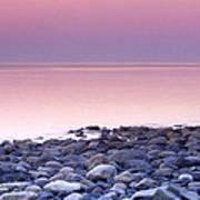 Sunset By The Ocean Art Print