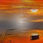 Sunset Charm, 30 Landscape Wall Art Painting Pack  Sunset-sunrise, Evening, Sea, Water, Ocean Etc  Art Print