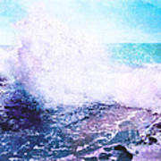 Sunset Cliff Wave Art Print