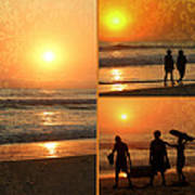 Sunset Collage Art Print
