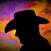 Sunset Cowboy Art Print