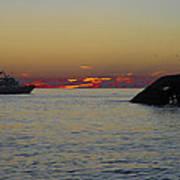 Sunset Cruise At Cape May Art Print