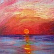 Sunset Delaware Bay Art Print