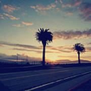 Sunset Drive Art Print by Laurie Search