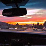 Sunset Drive Art Print