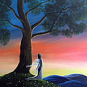Sunset Fairy By Shawna Erback Art Print
