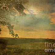 Sunset Farmland Art Print