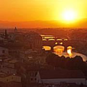 Sunset Florence Art Print