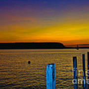Sunset From Andersons Dock Art Print